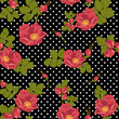 Seamless floral ornament  with wild rose