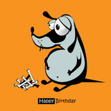 Happy Birthday smile dog card