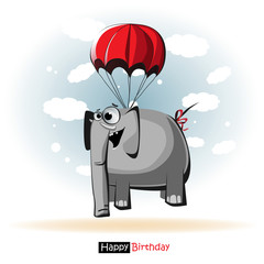 Happy Birthday smile elephant