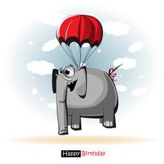 Happy Birthday smile elephant