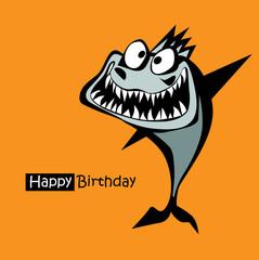 Happy Birthday smile fish