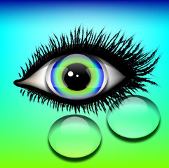 oko z założoną soczewką