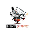 Happy Birthday smile poodle dog funny