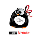 Happy Birthday smile penguin gift