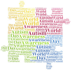 Word cloud Autism disease related