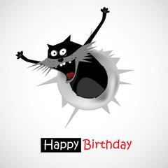 smile Happy Birthday gift cat
