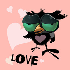 Valentine's Day bird smile love