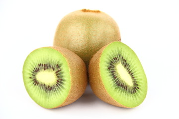 Kiwi on the white background