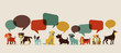 Dogs speaking - icons and illustrations - 62190655
