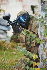 paintball game player