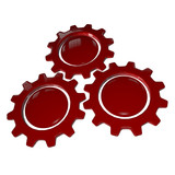 Gear Wheel - Red & White