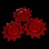 Gear Wheel - Red & Black