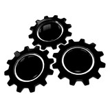 Gear Wheel - Black & White