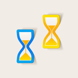 realistic design element: hourglass