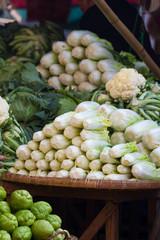 Lettuce at market in Myanmar