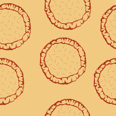 vector pastry dough seamless pattern