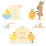 Easter chicken and bunny
