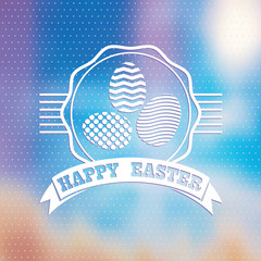 Blured background.  Easter vintage label.