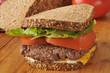Homemade hamburger sandwich