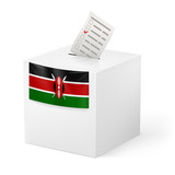 Ballot box with voting paper. Kenya