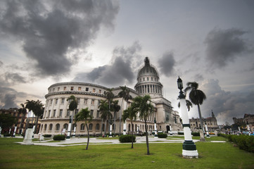 Landscape view of the Capitol building
