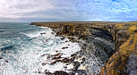 Cliffs of Aran islands in Ireland