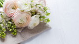 delicate elegant bouquet of flowers