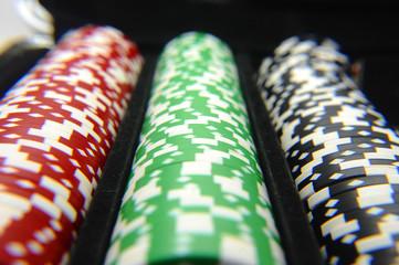 Set of gaming poker chips