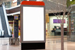 Citilayts with blank screen stands in a megastore - 62195448
