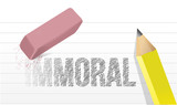 immoral to moral illustration design poster