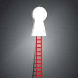 ladder to key hole illustration design