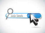 job seek search bar illustration design