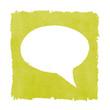 Social Media Speech Bubble Painted Green Box Frame