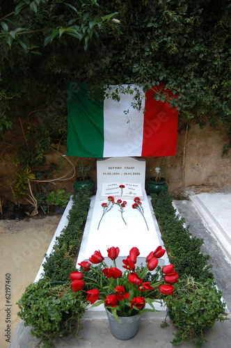 Hammamet - Tunisia - The tomb of Bettino Craxi