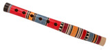 Colorful wooden fife wind instrument