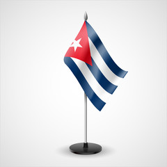 Table flag of Cuba