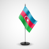 Table flag of Azerbaijan