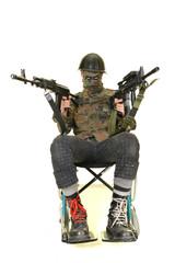 soldat en fauteuil roulant