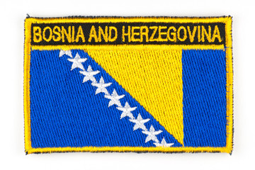 Photo of patch depicting the flag of Bosnia and Herzegovina