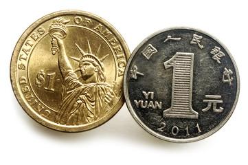 Dollar and Renminbi 美元和人民币 الدولار والرنمينبي
