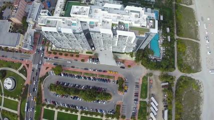 Aerial building flyover 1080