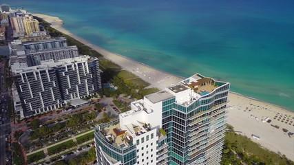 Aerial Miami Beach architecture