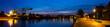 Leinwanddruck Bild - Hafenpromenade Oldenburg