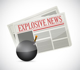 explosive news concept illustration design