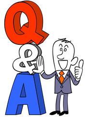 Q&Aとビジネスマン