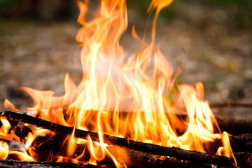 Fire outdoors