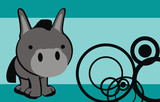 donkey cute cartoon baby vector background
