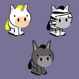 cute animals cartoon vector set