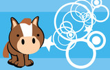 horse baby cartoon wallpaper vector