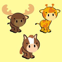 cute animals set in vector format